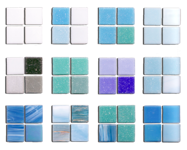 Concrete Construction Pool Tile Samples